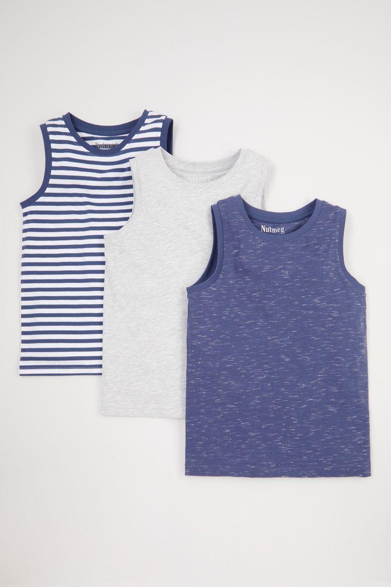 3 Pack Stripe Vests 1-14yrs