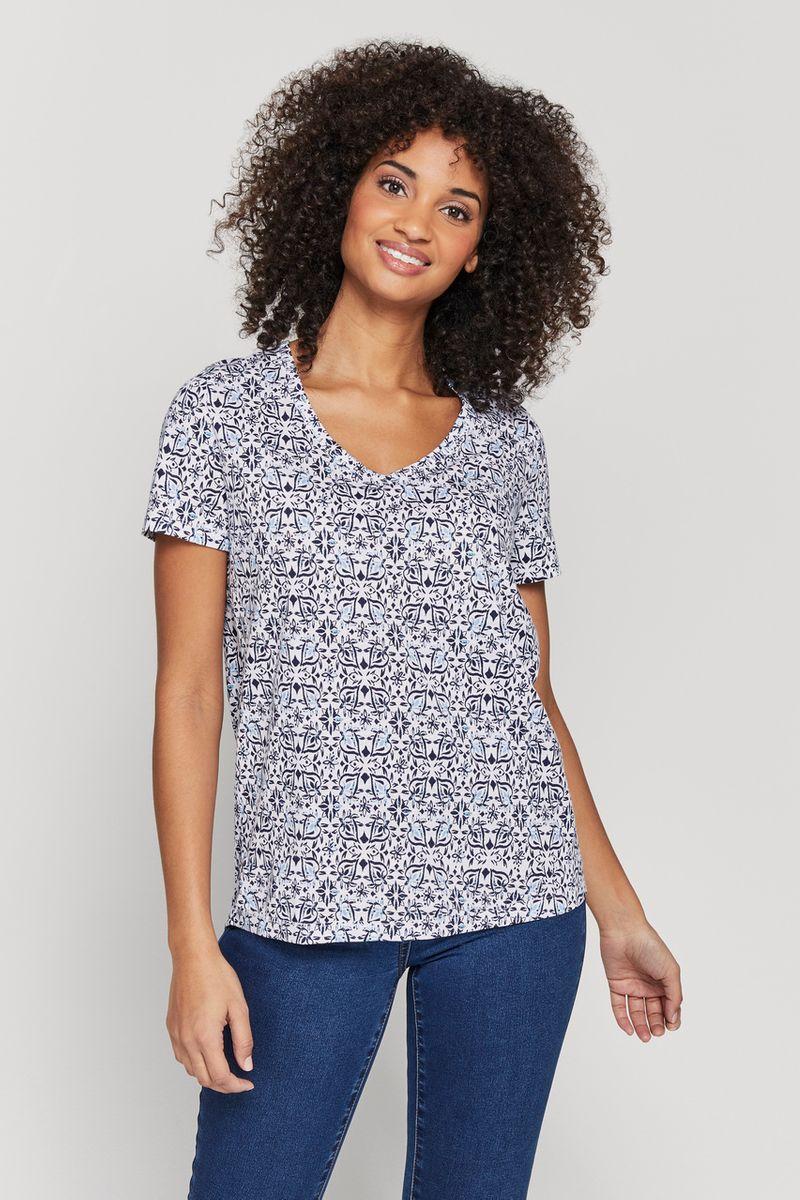 Short sleeve Tile Print T-shirt