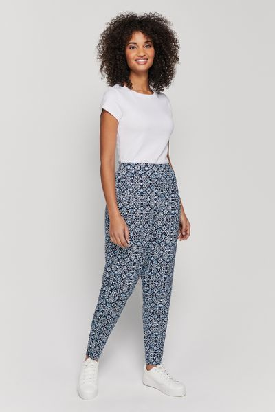Tile Print Harem Trousers