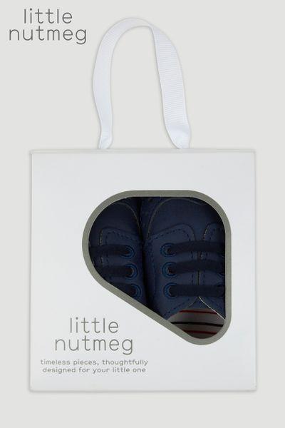 Little Nutmeg Blue Pram Shoe