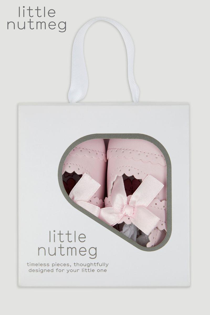 Little Nutmeg Pink Pram Shoe