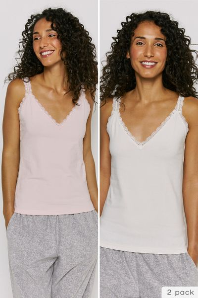 2 Pack Lace Vest Tops