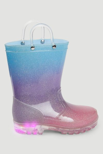 Glitter Ombre Light Up Wellie