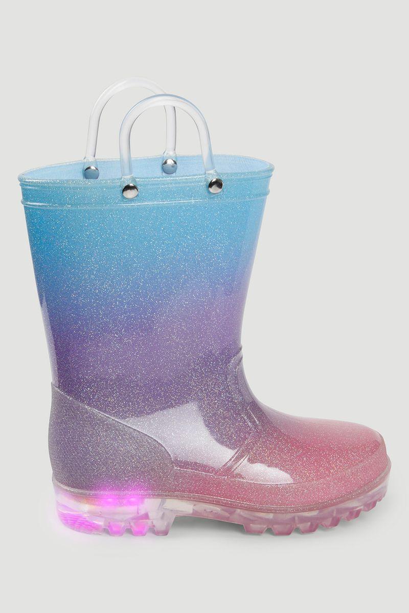Glitter Ombre Light Up Wellie