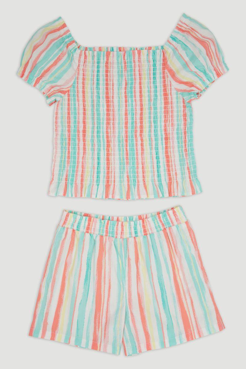 Shirred Top & Shorts Set