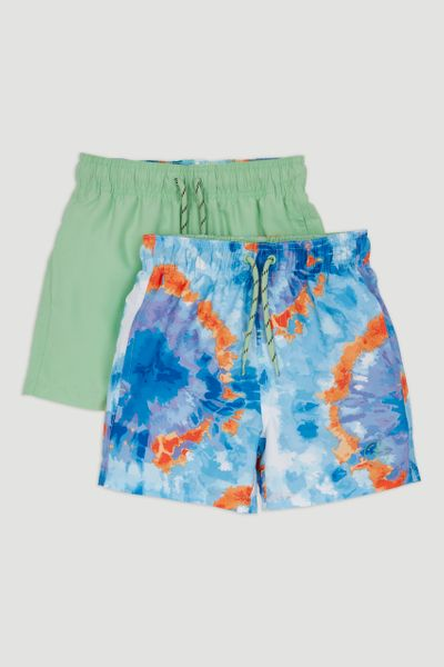 2 Pack Tie Dye Swim Shorts 1-14yrs