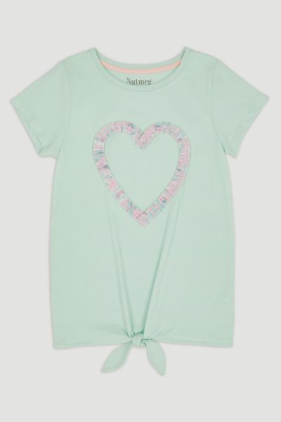 Green Heart Tie-Front T-shirt