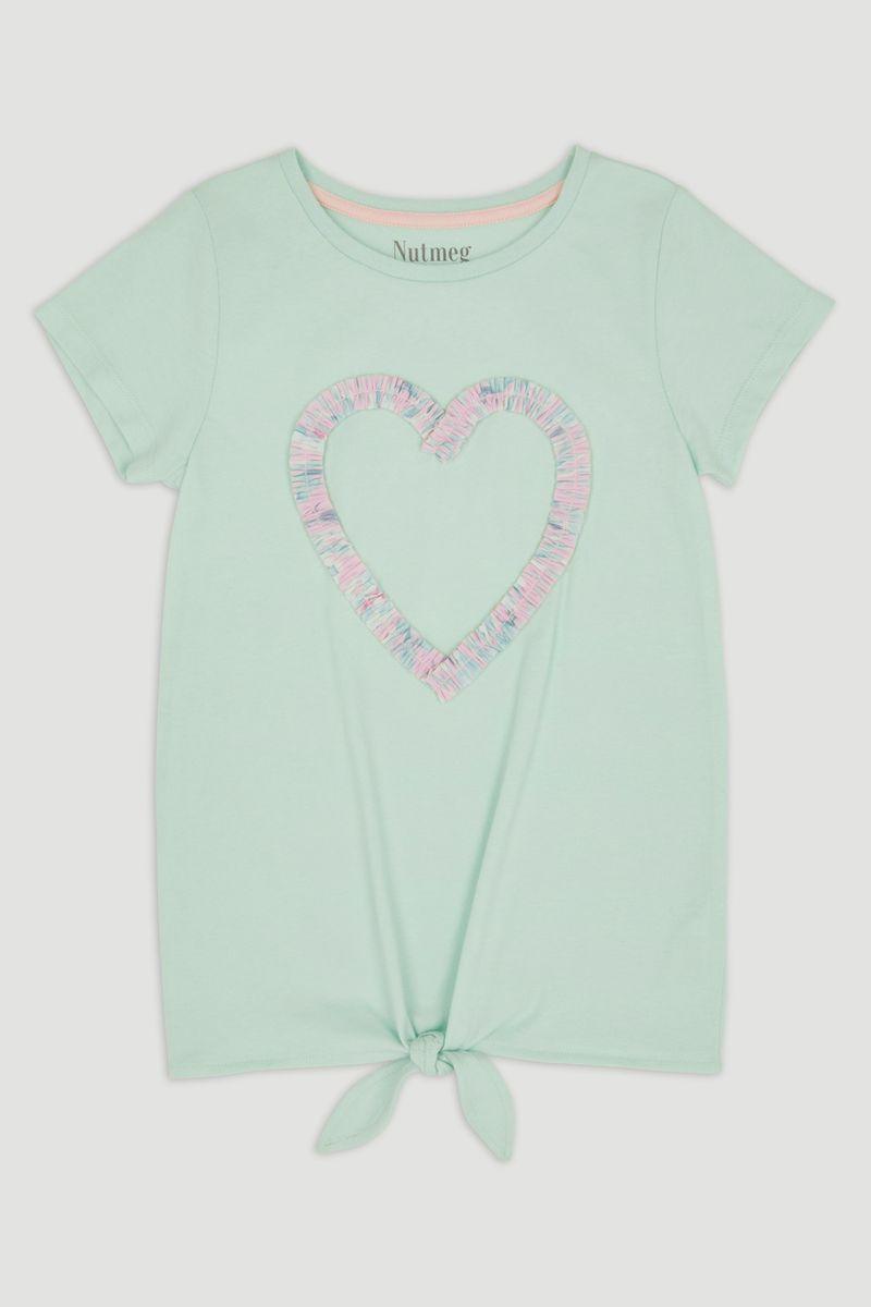 Green Heart Tie-Front T-shirt