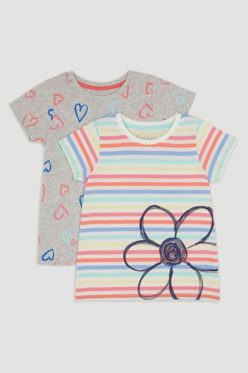 2 Pack Heart & Stripe T-Shirts