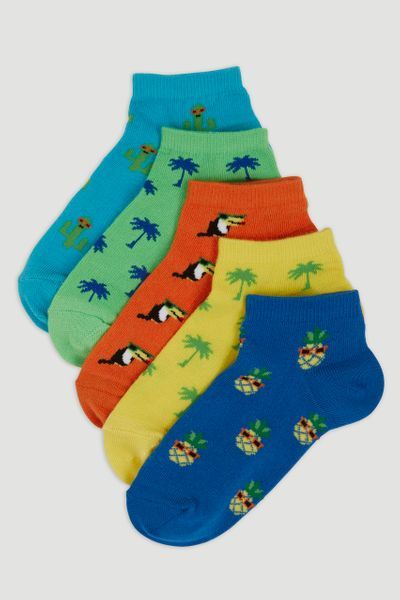 5 Pack Tropical Trainer Socks