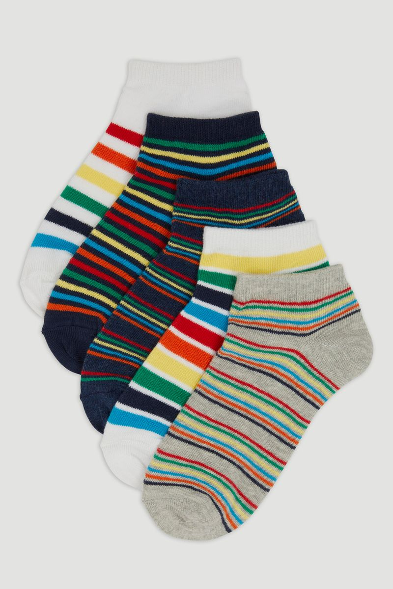 5 Pack Rainbow Stripe Trainer Liners