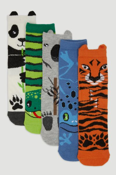 5 Pack Tiger Socks
