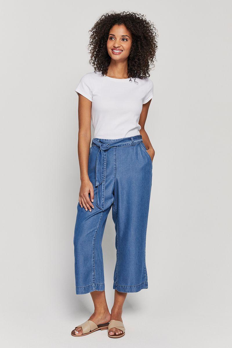 Wide Leg Tencel Culottes