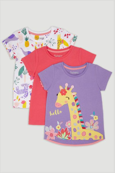 3 Pack Purple Giraffe T-Shirts