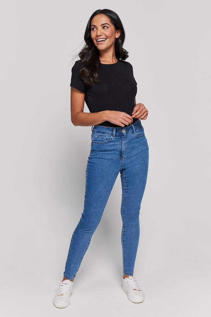 Light Wash Shaper Denim Jeans