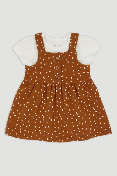 Spot Pinafore & T-Shirt Set