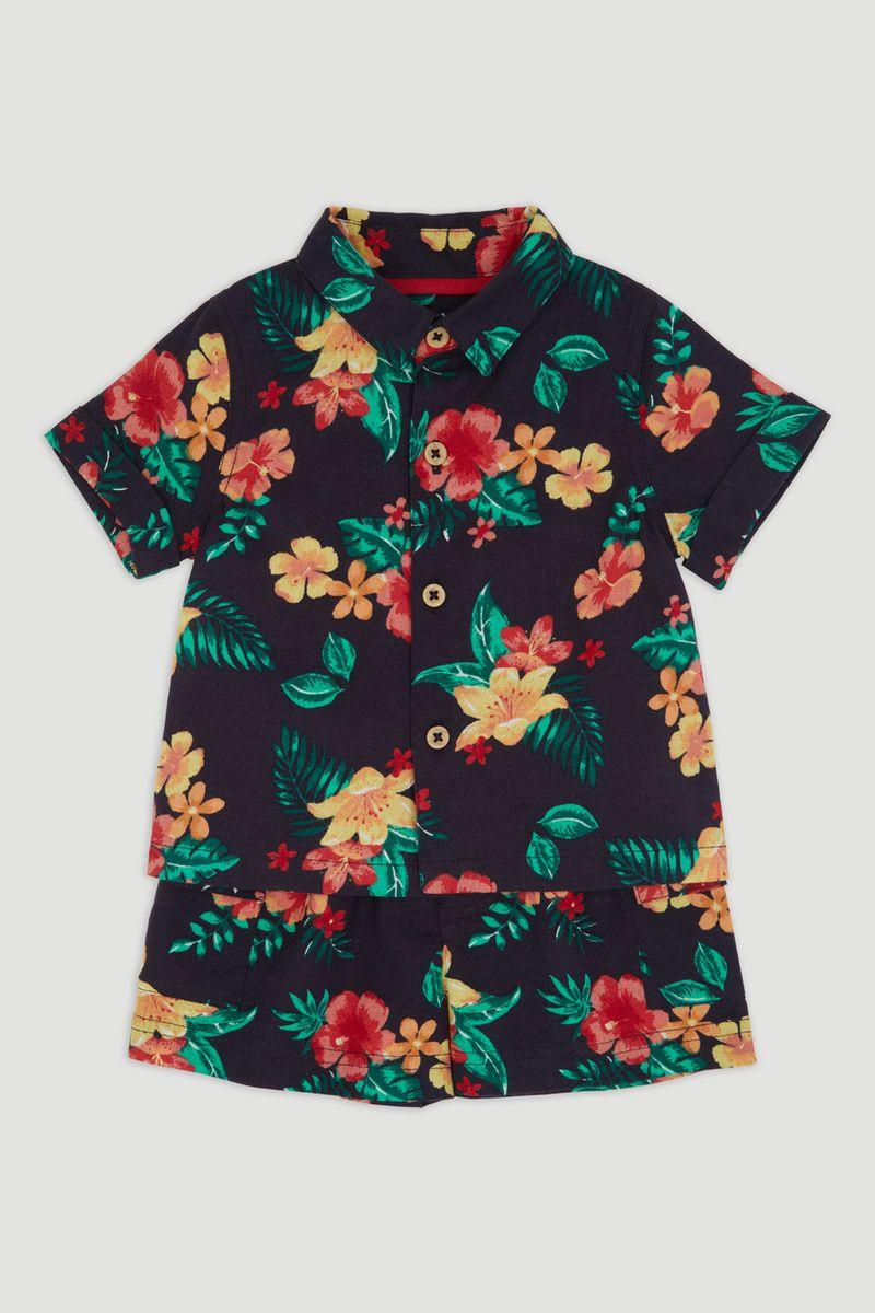 Tropical Woven Short Set