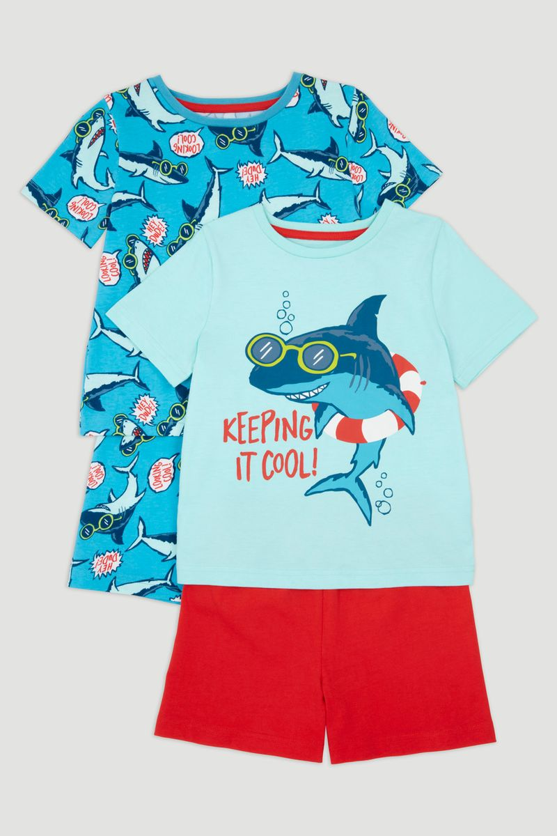 2 Pack Shark Pyjamas