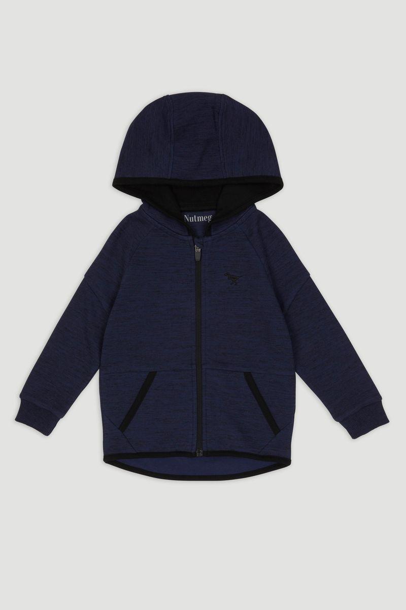 Blue Zip Through Hoodie