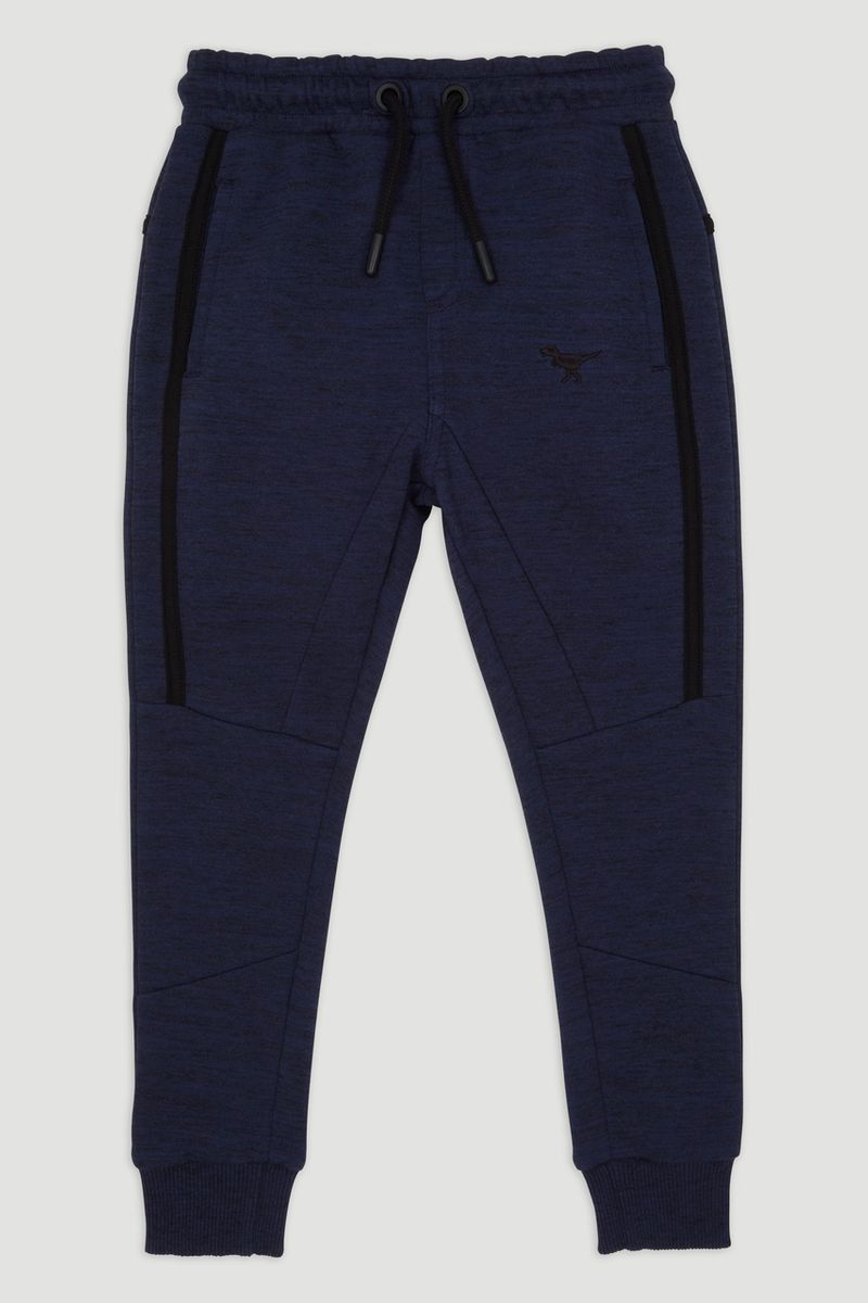 Blue Dino Embroidered Joggers