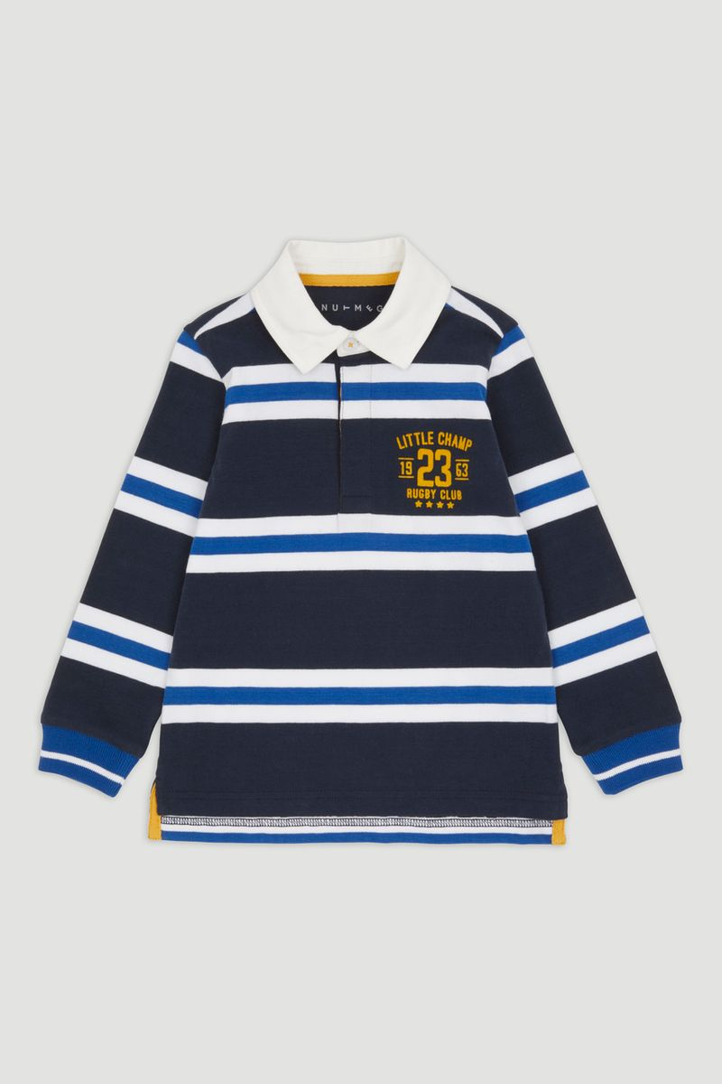 Navy Long Sleeve Rugby Shirt