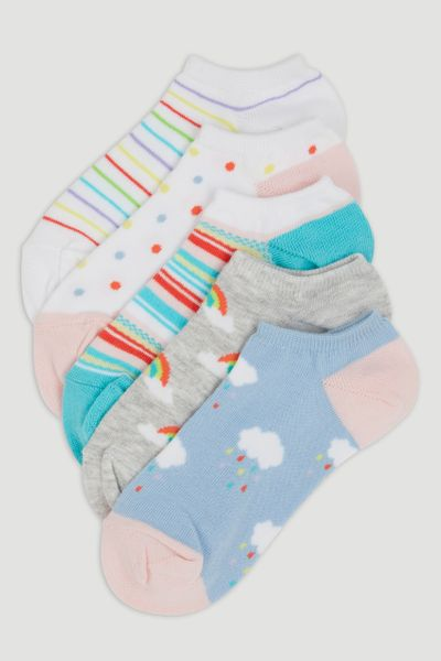 5 Pack Rainbow Socks