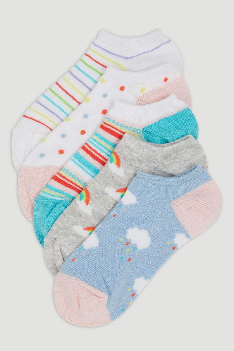 5 Pack Rainbow Socks