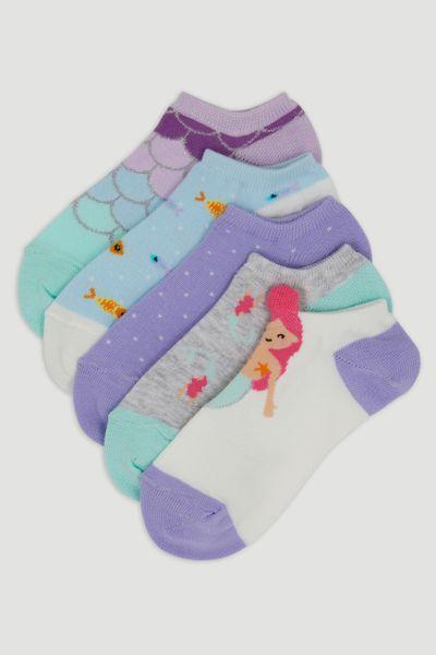 5 Pack Mermaid Socks
