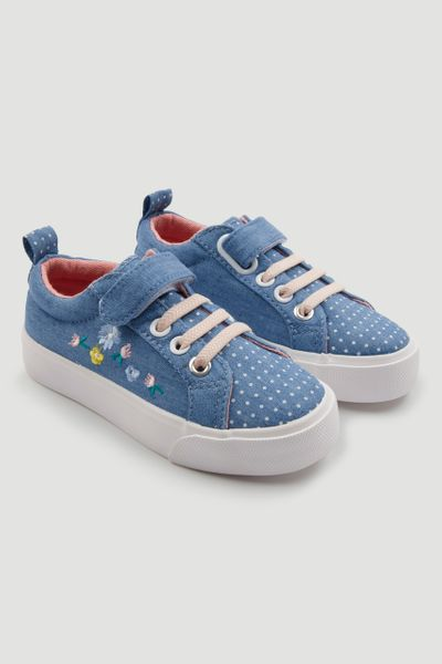 Denim Polka Dot Trainer