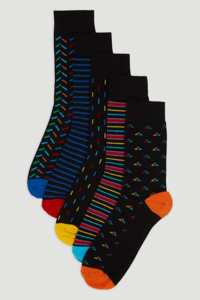 5 Pack Pattern Socks