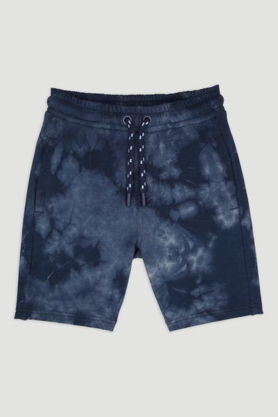 Blue Tie Dye Sweat Shorts