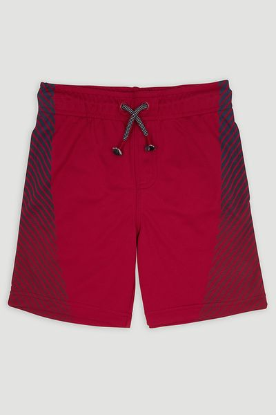 Red Stripe Panel Shorts
