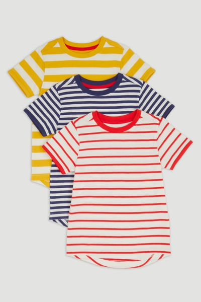 3 Pack Retro Stripe T-shirts 1-14yrs
