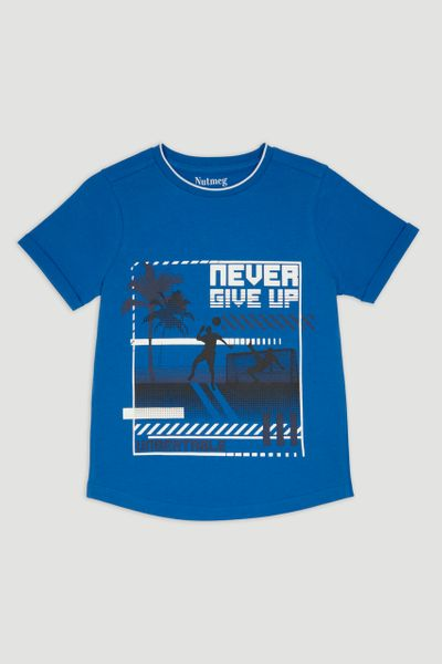 Blue Footie Slogan T-shirt