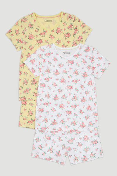 2 Pack Floral Pyjamas