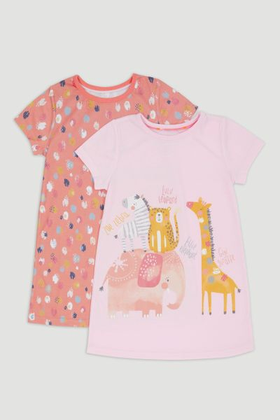 2 Pack Safari Print Nighties