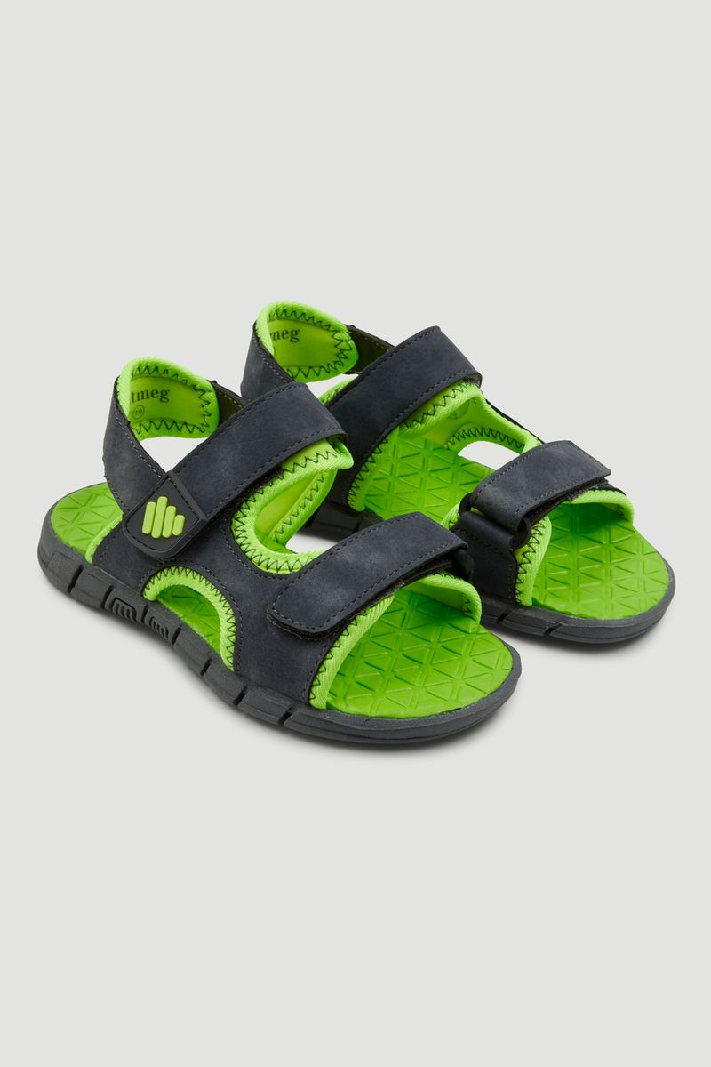 Neon Charcoal Sandals