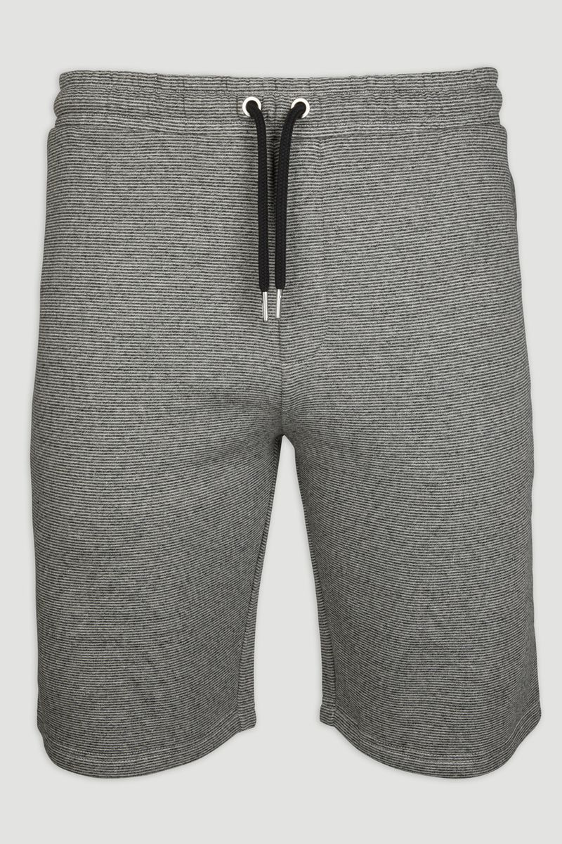 Grey Textured Sweat Short