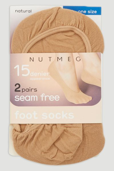 2 Pack Natural Footsies