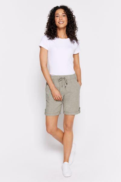 Woven Sage Linen Rich Shorts