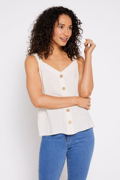 Oatmeal Button Front Cami