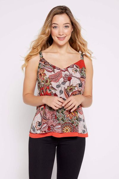 Printed Split Back Cami