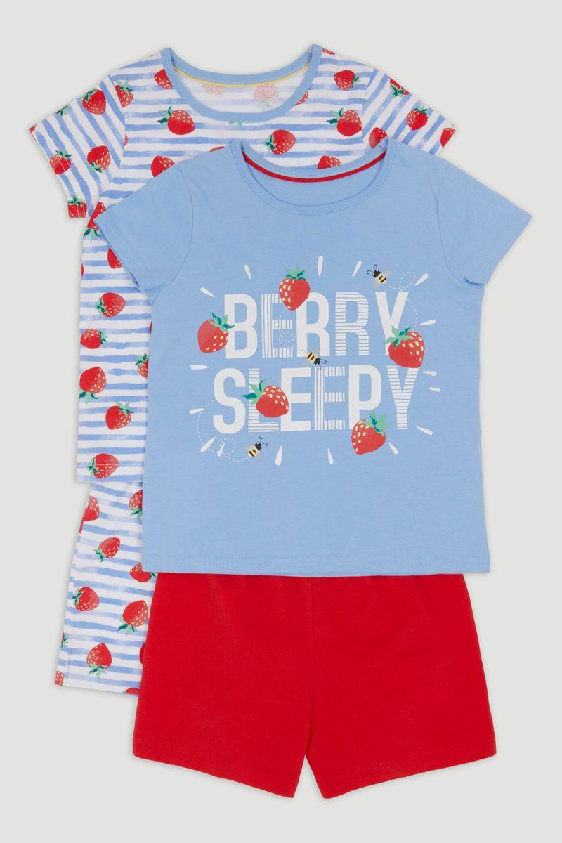 2 Pack Strawberry Pyjamas