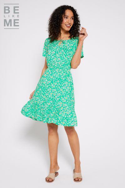 Be Like Me Floral Tea Dress