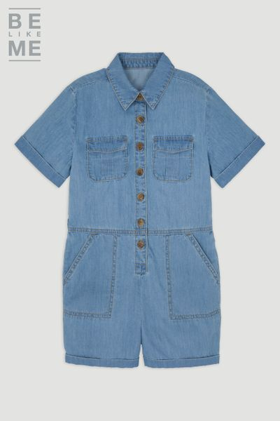 Be Like Me Denim Playsuit