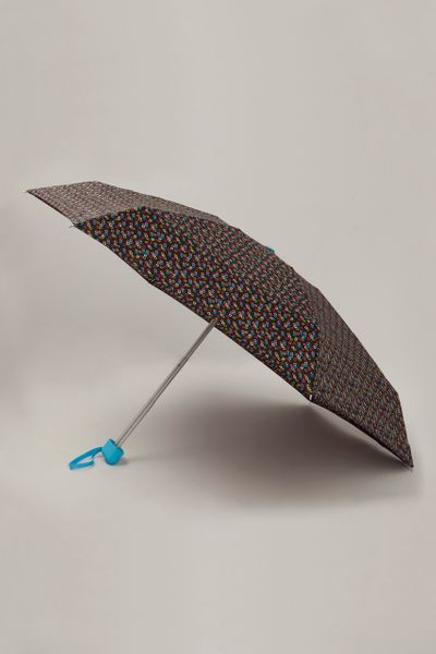 Black Dotty Compact Umbrella