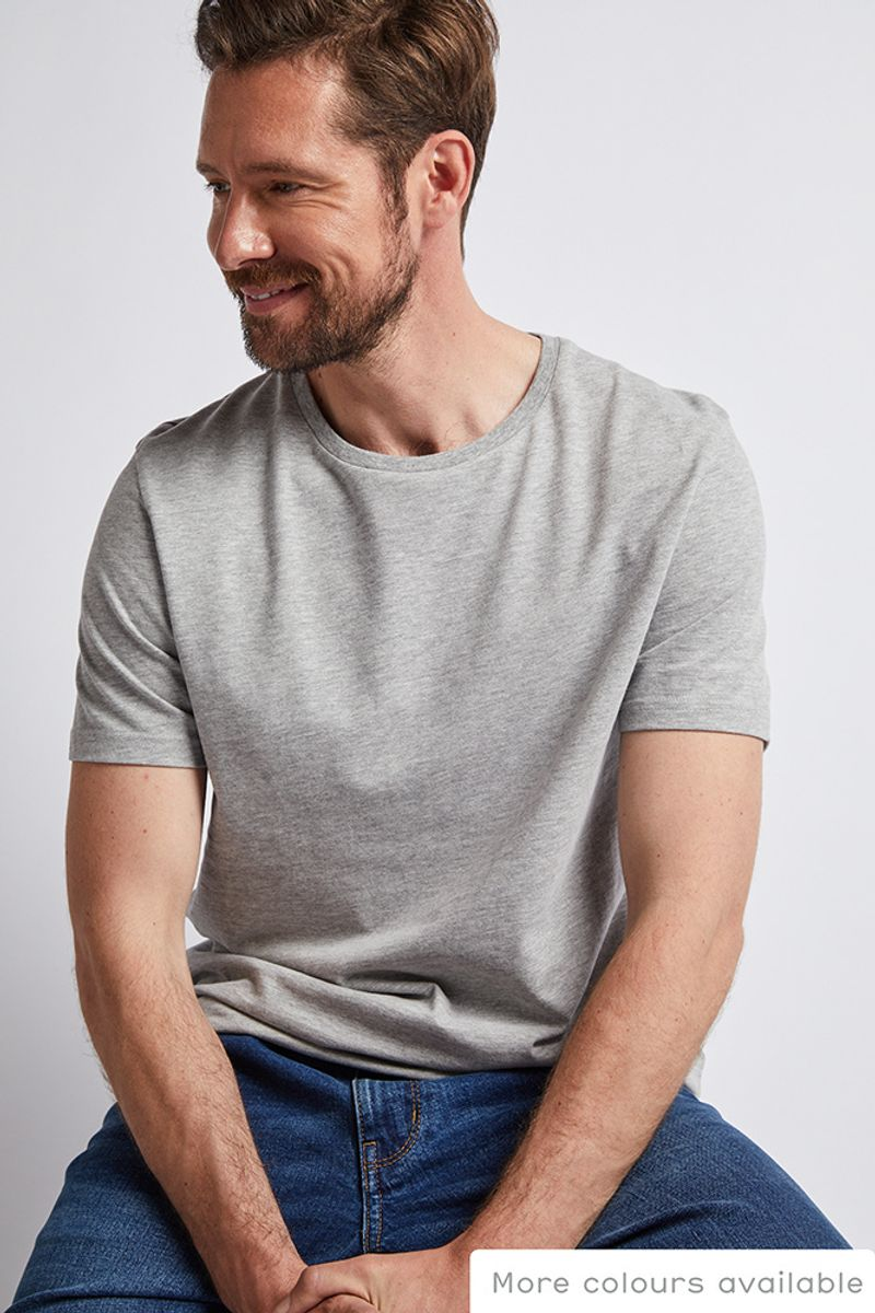 Grey Marl Crew Neck T-shirt