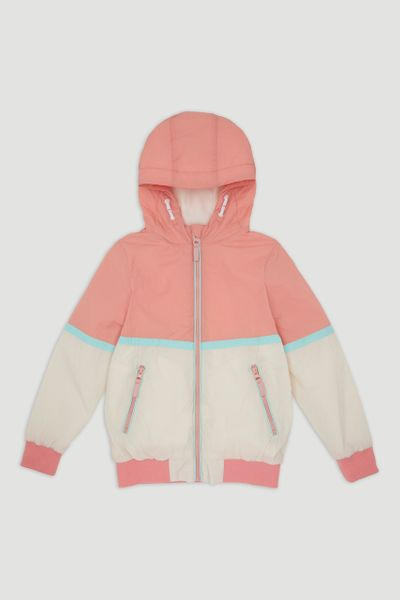 Peach Colourblock Jacket
