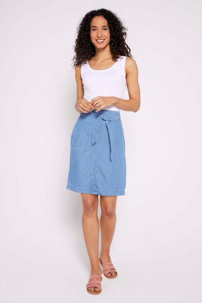 Tencel Belted Skirt