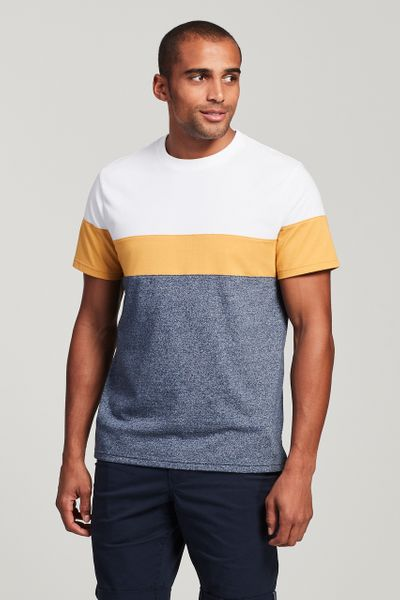 Ochre Colour Block T-Shirt